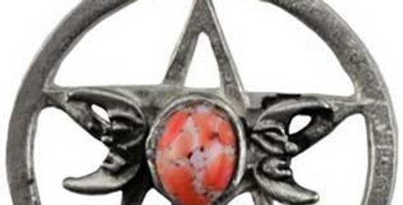 Triple Moon-Pentacle Spell Amulet
