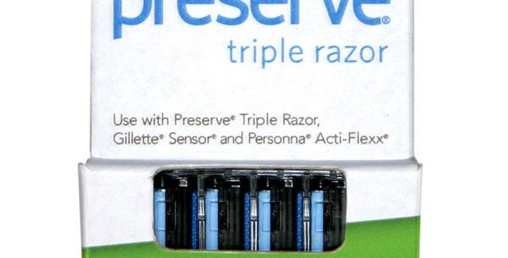 PRESERVE TRIPLE RAZOR REPLACEMENT BLADES 24 BLADES