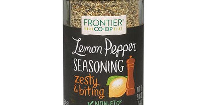 Frontier Lemon Pepper Seasoning Blend 2.08 oz.