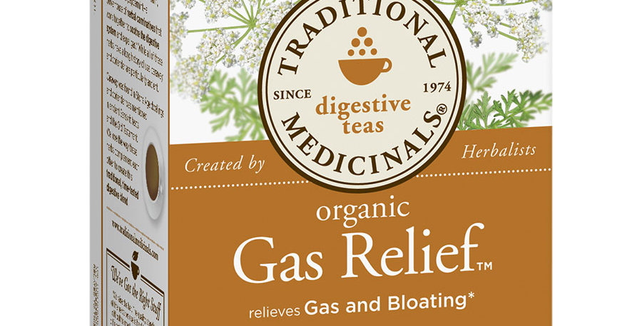 TRADITIONAL MEDICINALS ORGANIC GAS RELIEF TEA 16 TEA BAGS
