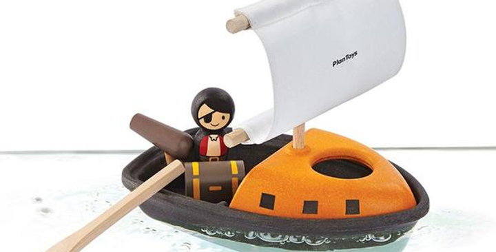 PLAN TOYS PIRATE BOAT FOR 2+ YEARS