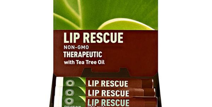 DESERT ESSENCE SHEA BUTTER LIP RESCUE 0.15 OZ.
