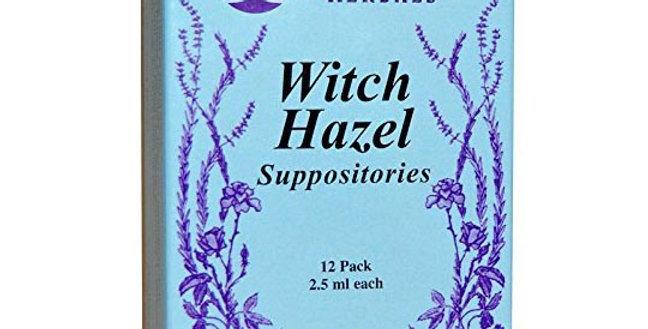 WISEWAYS HERBALS WITCH HAZEL SUPPOSITORIES 12 PACK