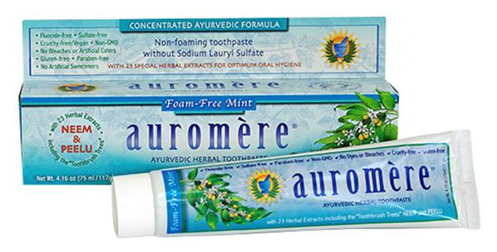 Auromere Non-Foaming Mint Toothpaste 4.16 oz.