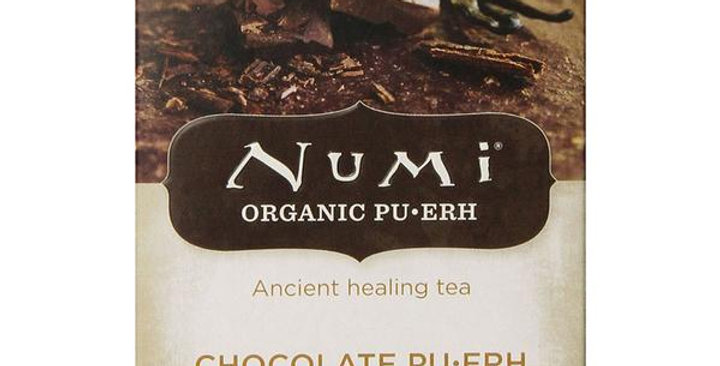 NUMI TEA CHOCOLATE PUERH BLACK TEA 16 TEA BAGS