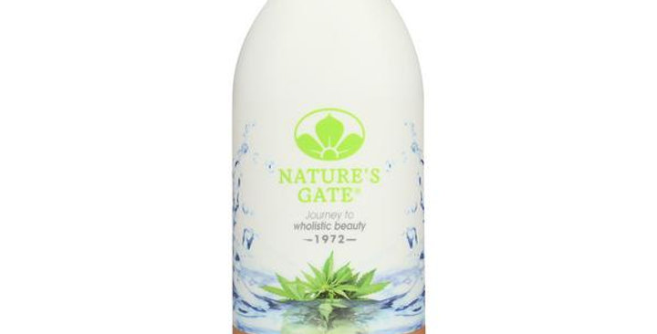 NATURE'S GATE HEMP BODY WASH 18 FL. OZ.