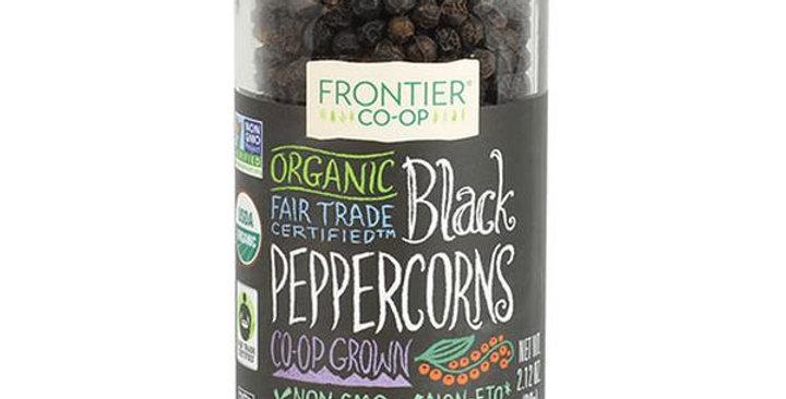 Frontier Organic Fair Trade Certified Black Peppercorns 2.12 oz.