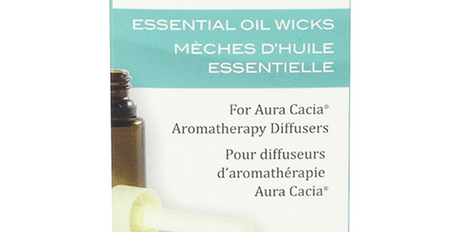 Aura Cacia Essential Oil Replacement Wicks 10 ct