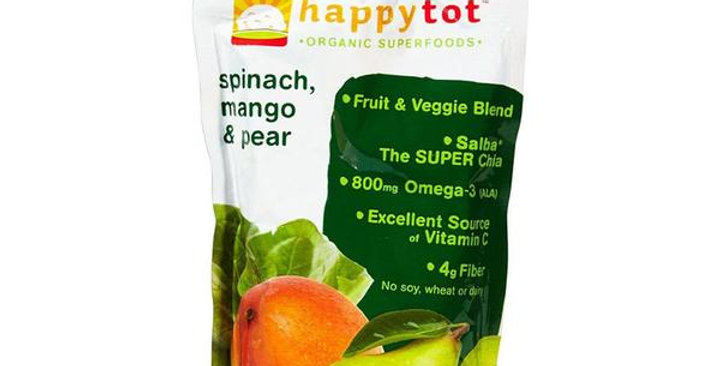 HAPPY FAMILY BRANDS STAGE 4 ORGANIC SPINACH, MANGO & PEAR SUPERFOODS 4 COUNT 4.2