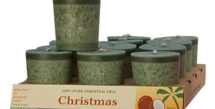 Aloha Bay Christmas Green Votive Candles