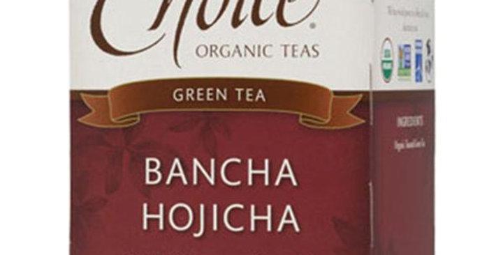 CHOICE TEAS BANCHA HOJICHA ORGANIC TEA BAGS