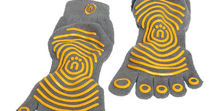 NATURAL FITNESS ECO-PROPS GRIP SOCKS XS/S, CARBON/SUN