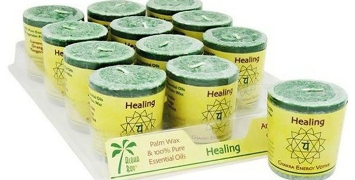 Aloha Bay Healing Green Chakra Votive Candles