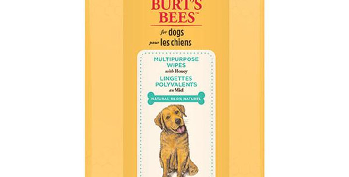 BURT'S BEES NATURAL PET CARE MULTI-PURPOSE WIPES WITH SHEA BUTTER AND HONEY