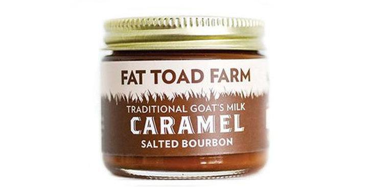 FAT TOAD FARM SALTED BOURBON TRADITIONAL GOAT'S MILK CARAMEL 2 OZ. GLASS JAR