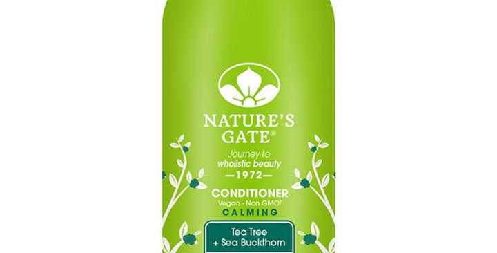 NATURE'S GATE TEA TREE + SEA BUCKTHORN CALMING CONDITIONER 32 FL. OZ.