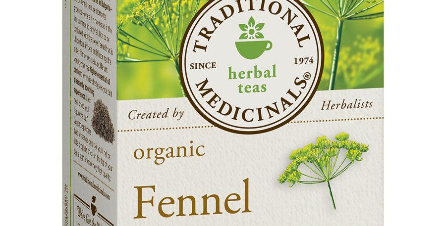 TRADITIONAL MEDICINALS ORGANIC FENNEL TEA 16 TEA BAGS