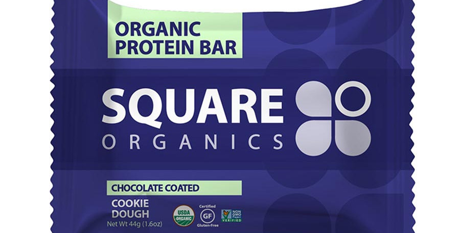 SQUARE ORGANICS CHOCOLATE COATED COOKIE DOUGH PROTEIN BARS