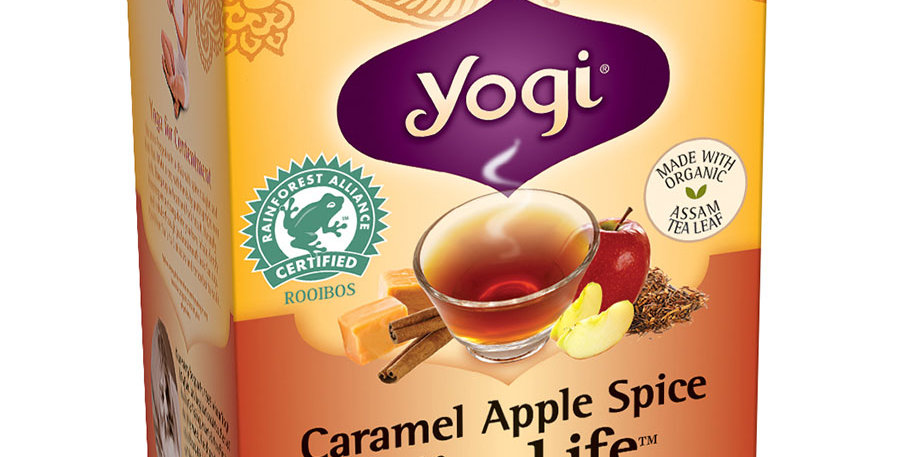 YOGI TEA CARAMEL APPLE SPICE SLIM LIFE HERBAL TEA 16 TEA BAGS