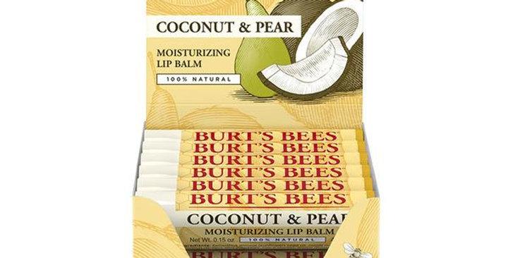BURT'S BEES COCONUT & PEAR LIP BALM TUBE REFILL PACK 12 (0.15 OZ.) TUBES