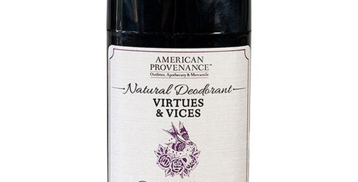 American Provenance Virtues & Vices Deodorant 2.65 oz.
