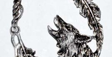 Wolf With Feathers Amulet