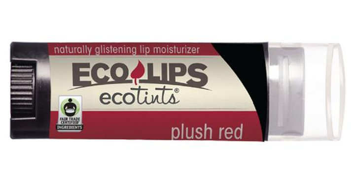 ECO LIPS PLUSH RED ECO TINTS LIP MOISTURIZER 0.15 OZ.