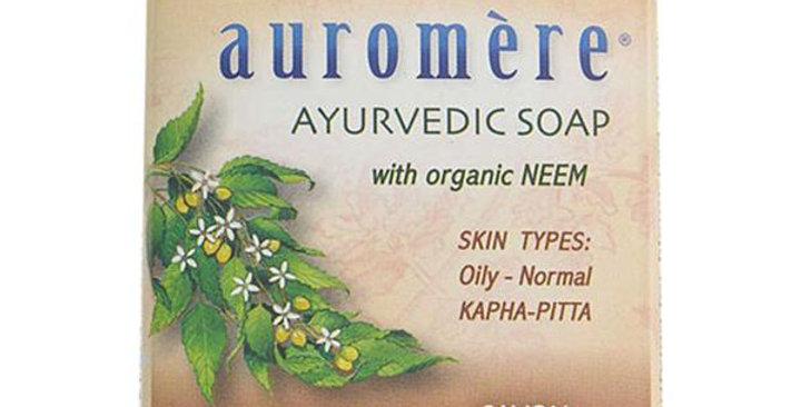 Auromere Sandalwood-Turmeric Ayurvedic Bar Soap 2.75 oz.