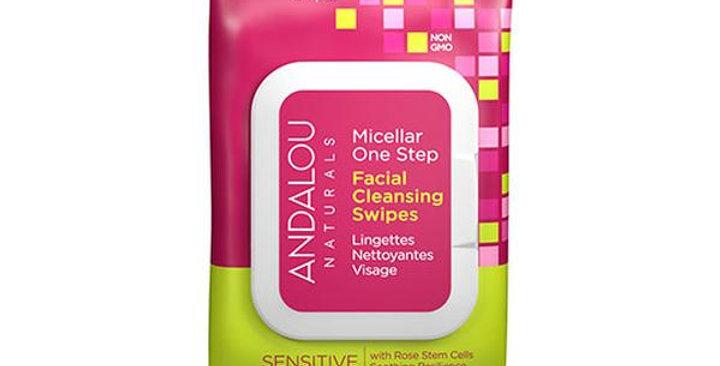 Andalou Naturals 1000 Roses Sensitive Facial Micellar Swipes 35 Count Skin Care