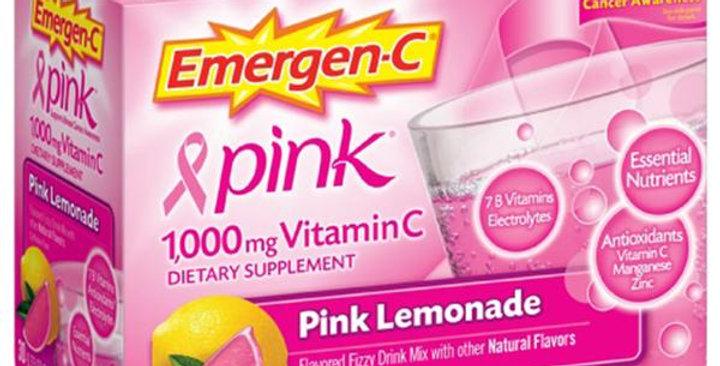 Alacer Pink (Pink Lemonade) Emergen-C 30 packets
