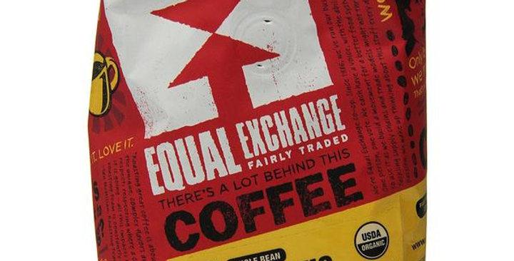 EQUAL EXCHANGE ORGANIC MIND, BODY & SOUL WHOLE BEAN COFFEE 12 OZ.