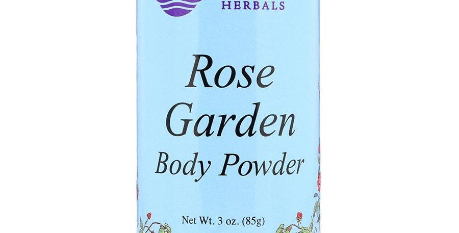 WISEWAYS HERBALS ROSE GARDEN BODY POWDER 3 OZ.
