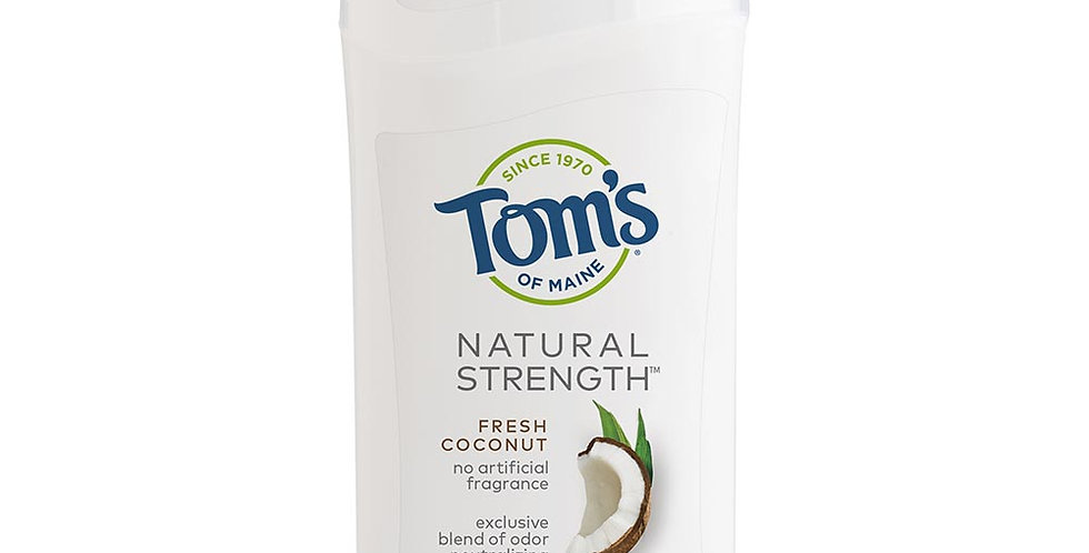 TOM'S OF MAINE FRESH COCONUT NATURAL STRENGTH WOMEN'S DEODORANT