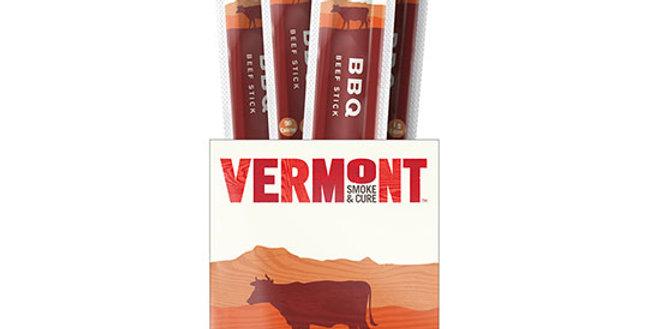 VERMONT SMOKE & CURE BBQ BEEF STICKS 24 (1 OZ.) STICKS PER BOX