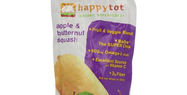 HAPPY FAMILY BRANDS STAGE 4 ORGANIC BUTTERNUT SQUASH & APPLE SUPERFOODS 4.22 OZ.