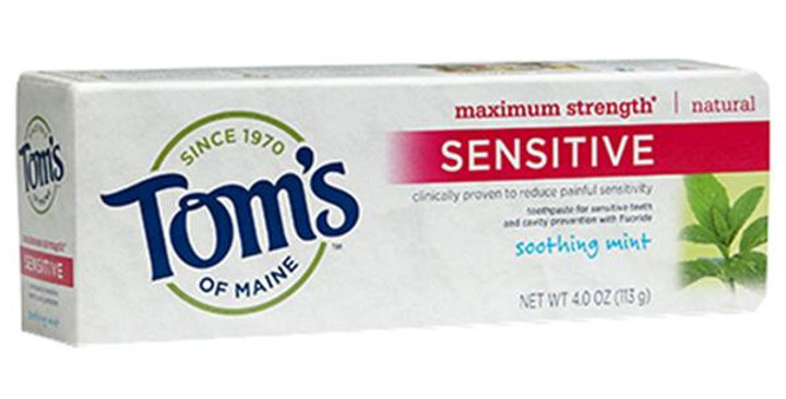 TOM'S OF MAINE SOOTHING MINT SENSITIVE TOOTHPASTE 4 OZ.