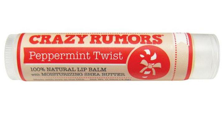 CRAZY RUMORS PEPPERMINT TWIST LIP BALM 0.15 OZ.