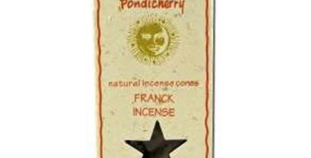 PONDICHERRY NATURAL FRANKINCENSE INCENSE CONES 20 COUNT