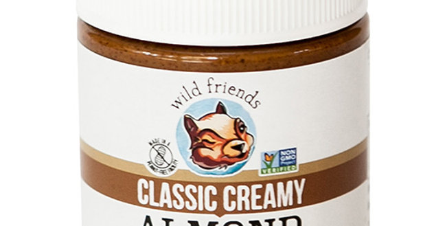 WILD FRIENDS CLASSIC CREAMY ALMOND BUTTER 10 OZ.