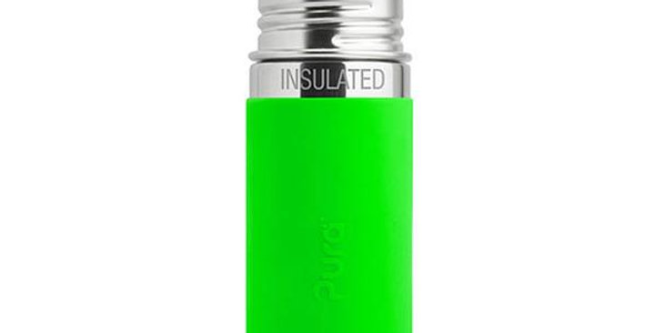 PURA STAINLESS GREEN SLEEVE INSULATED SIPPY CUP 9 OZ.