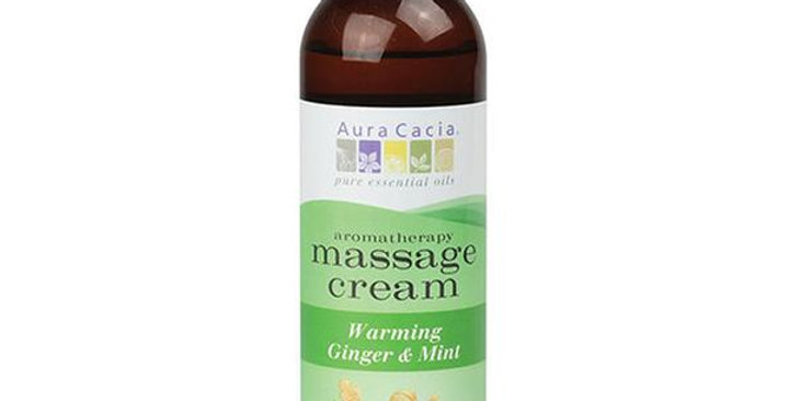 Aura Cacia Ginger & Mint Massage Cream 4 fl. oz.