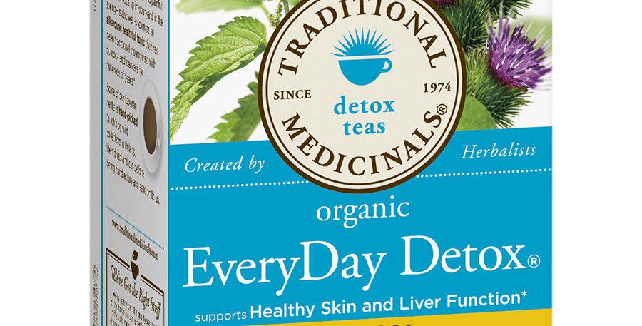 TRADITIONAL MEDICINALS ORGANIC LEMON EVERYDAY DETOX TEA 16 TEA BAGS