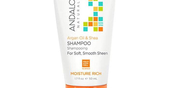 Andalou Naturals Argan Oil & Shea Moisture Rich Shampoo 1.7 fl. oz.