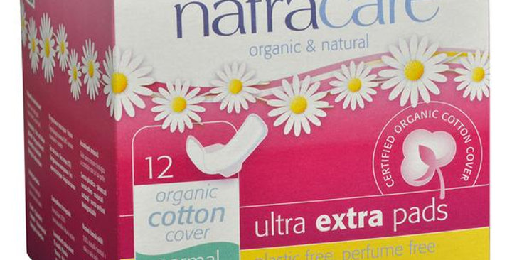 NATRACARE ULTRA EXTRA NORMAL PANTY LINERS WITH WINGS 12 COUNT