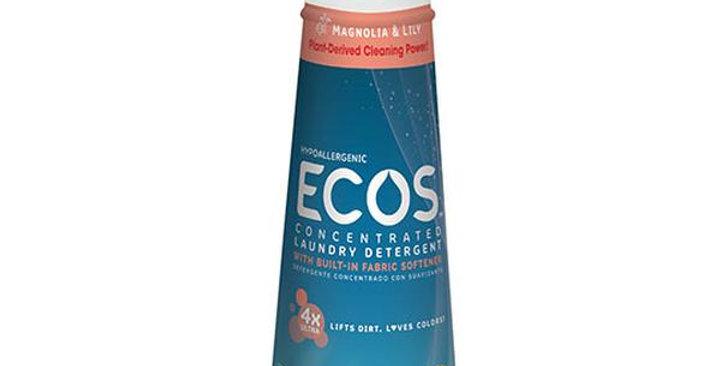 EARTH FRIENDLY PRODUCTS ECOS MAGNOLIA & LILY 4X LAUNDRY LIQUID 25 FL. OZ.