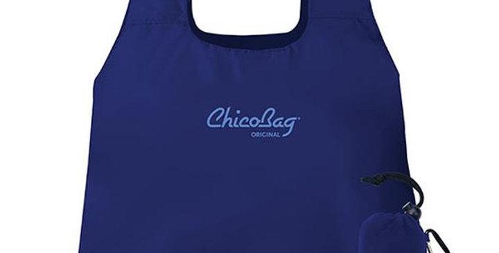 """CHICOBAG ORIGINAL MAZARINE BLUE REUSABLE SHOPPING BAG 17"""" X 15"""""""