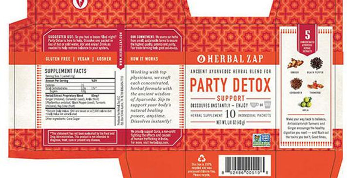 HERBAL ZAP PARTY DETOX SUPPORT