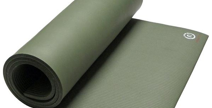 """NATURAL FITNESS OLIVE POWERHOUSE MAT 24"""" X 72"""" X 9.5 MM"""