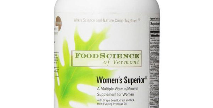 FOODSCIENCE OF VERMONT WOMAN'S SUPERIOR MULTIPLE VITAMIN 120 TABLETS