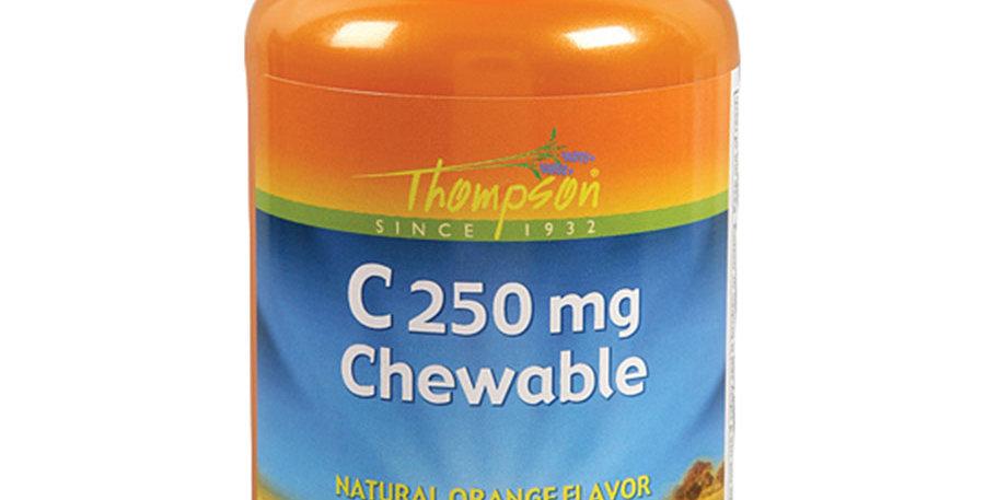 THOMPSON ORANGE FLAVORED VITAMIN C CHEWABLES 100 CHEWABLES